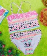 FREE KACAMATA RENANG bikini branded SO aztec uk S 6-7tahun 64 muat kira-kira untuk anak 6-7 tahun lebar pinggang 28cm(sblm melar),lebar dada 29cm (sblm melar)