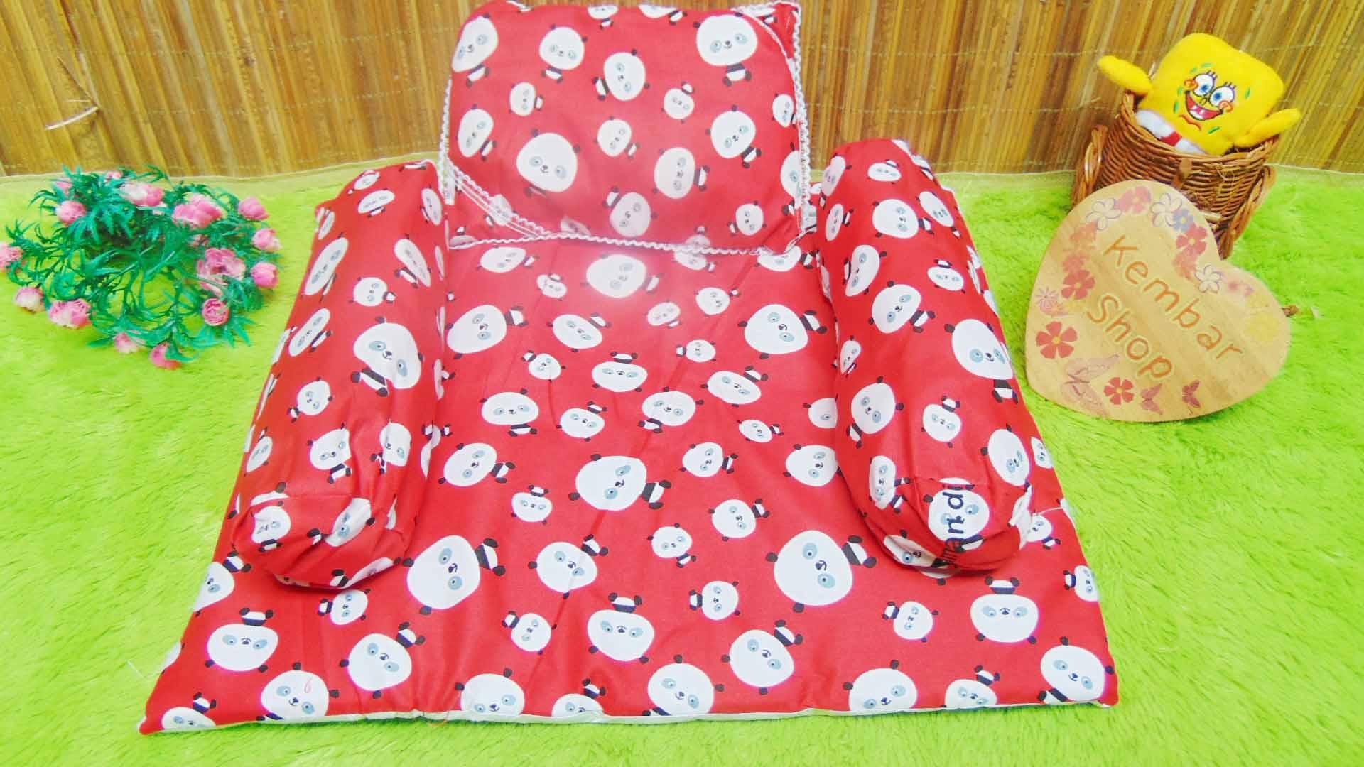 PALING MURAH kado bayi set kasur bayi karakter keroppi doraemon disney panda plus bantal dan guling (4)