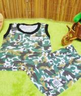 PALING MURAH setelan kaos kutung bayi army doreng warna n sablon random (1)