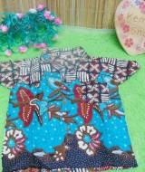 baju batik bayi anak laki-laki kemeja batik batita hem anak cowok uk 0-2th baju pesta taman tosca