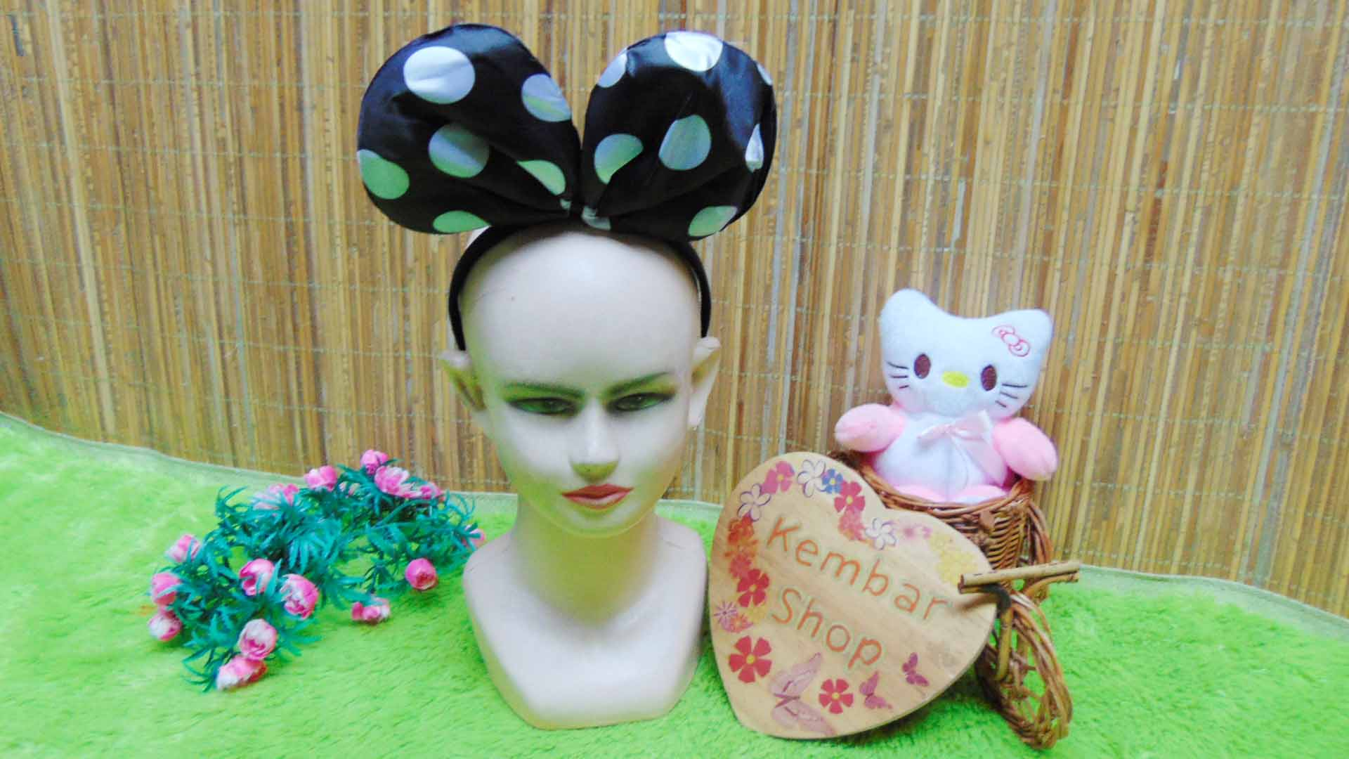bando anak dan dewasa minnie mouse polka aneka warna (1)