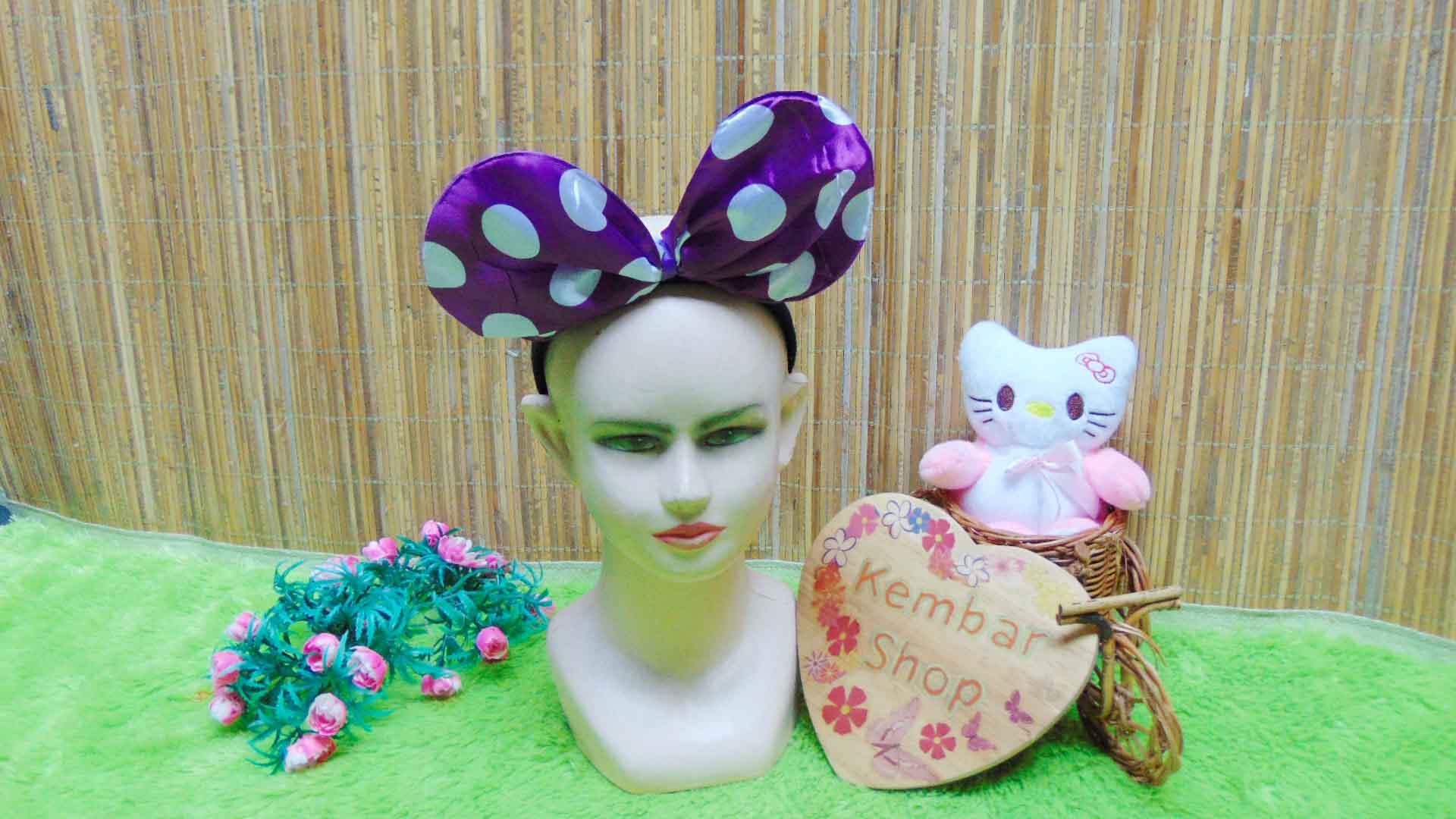 bando anak dan dewasa minnie mouse polka aneka warna (2)