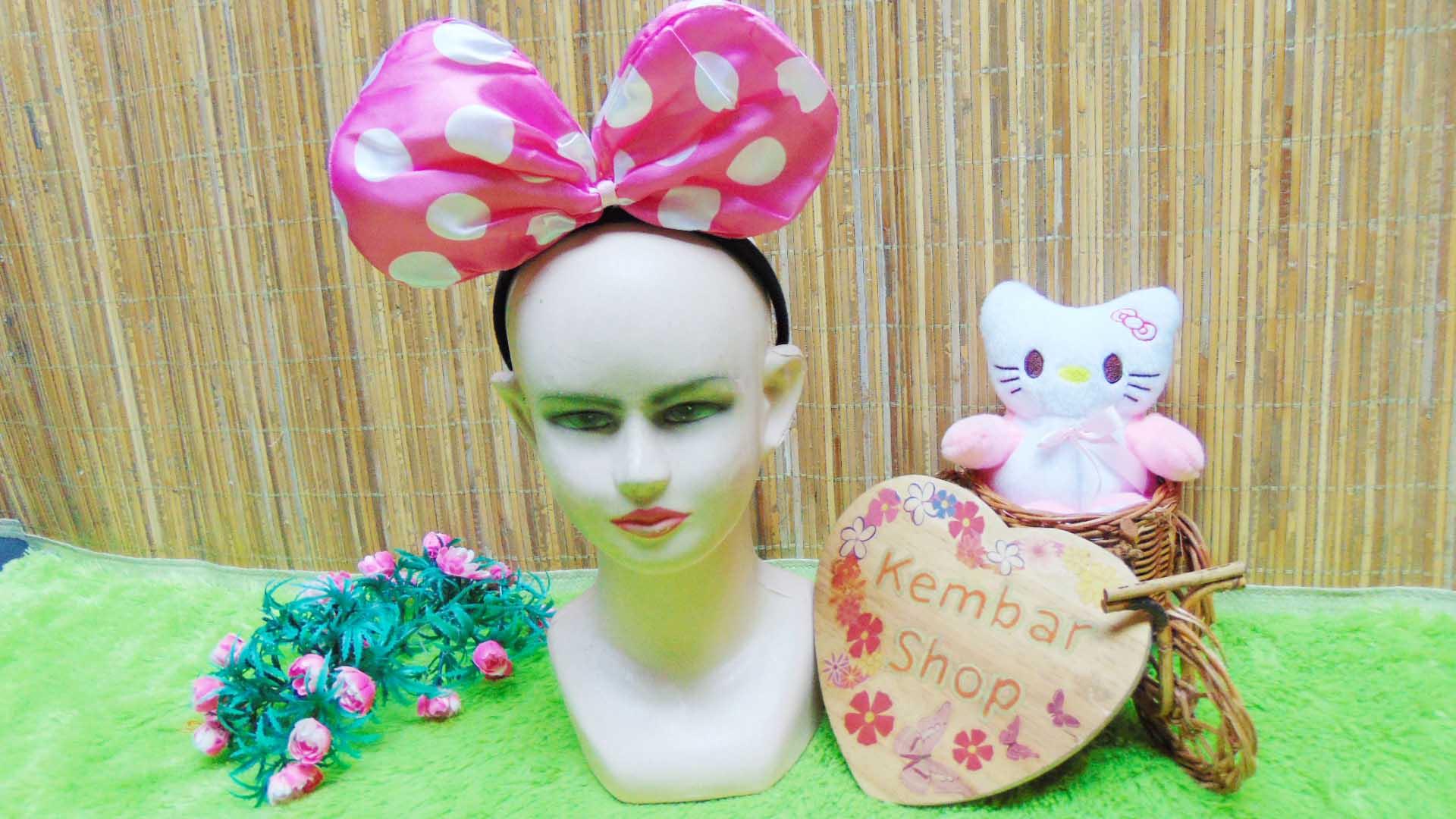bando anak dan dewasa minnie mouse polka aneka warna (4)
