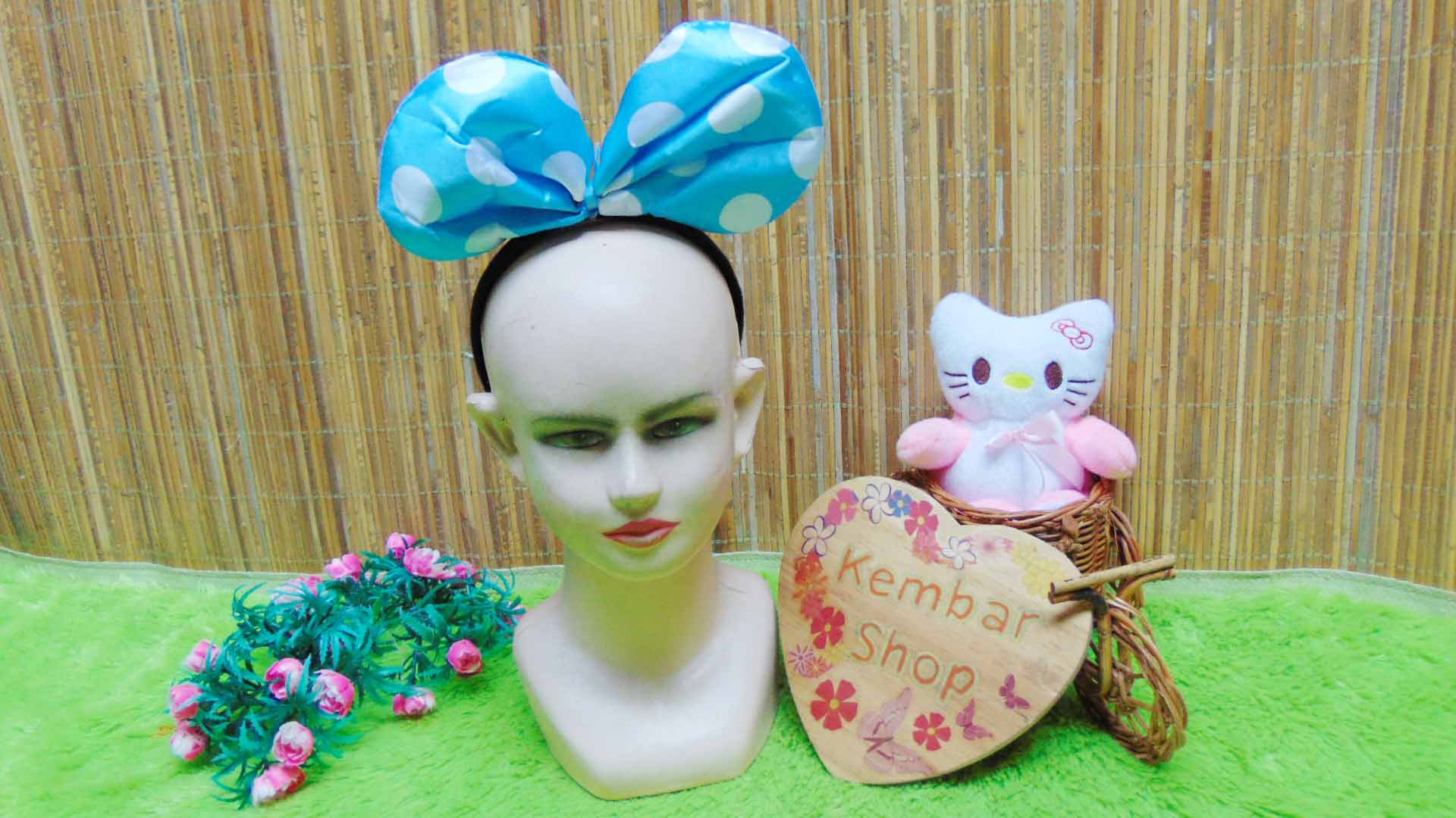 bando anak dan dewasa minnie mouse polka aneka warna (5)