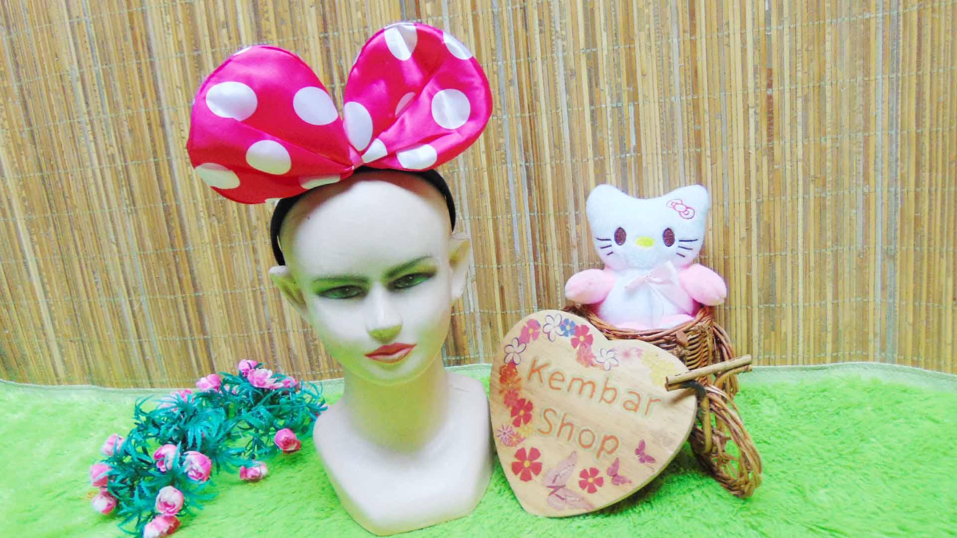 bando anak dan dewasa minnie mouse polka aneka warna (6)