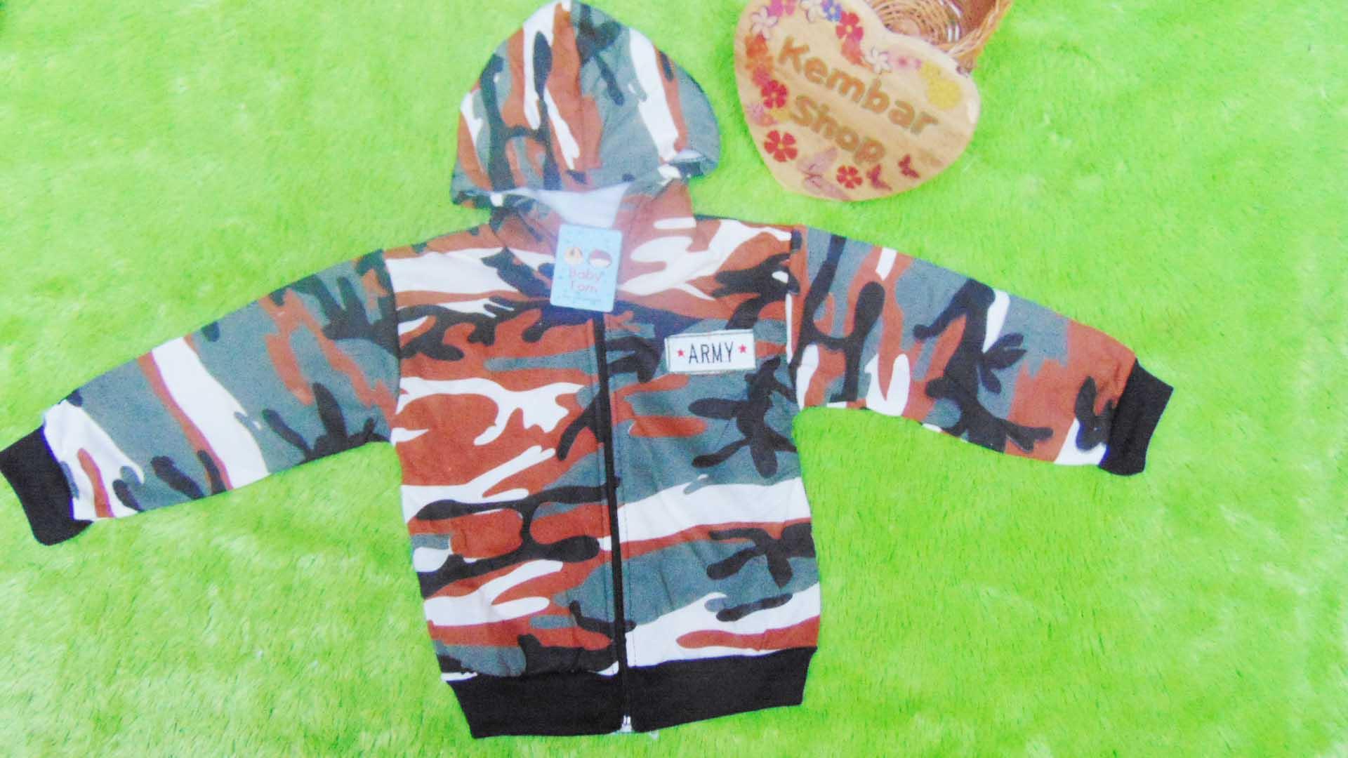jaket bayi 0-12bulan motif army (2)