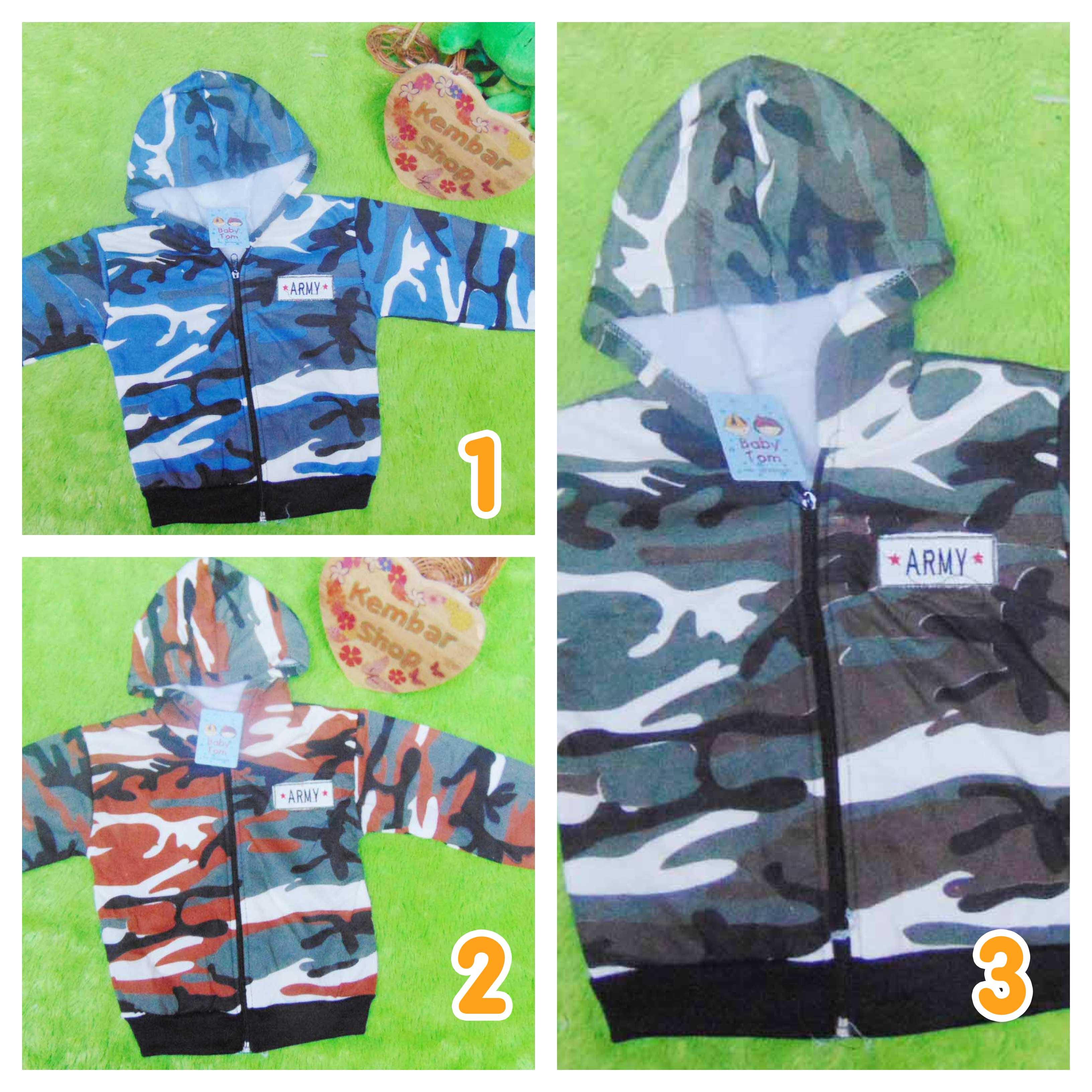 jaket bayi 0-12bulan motif army - utama copy