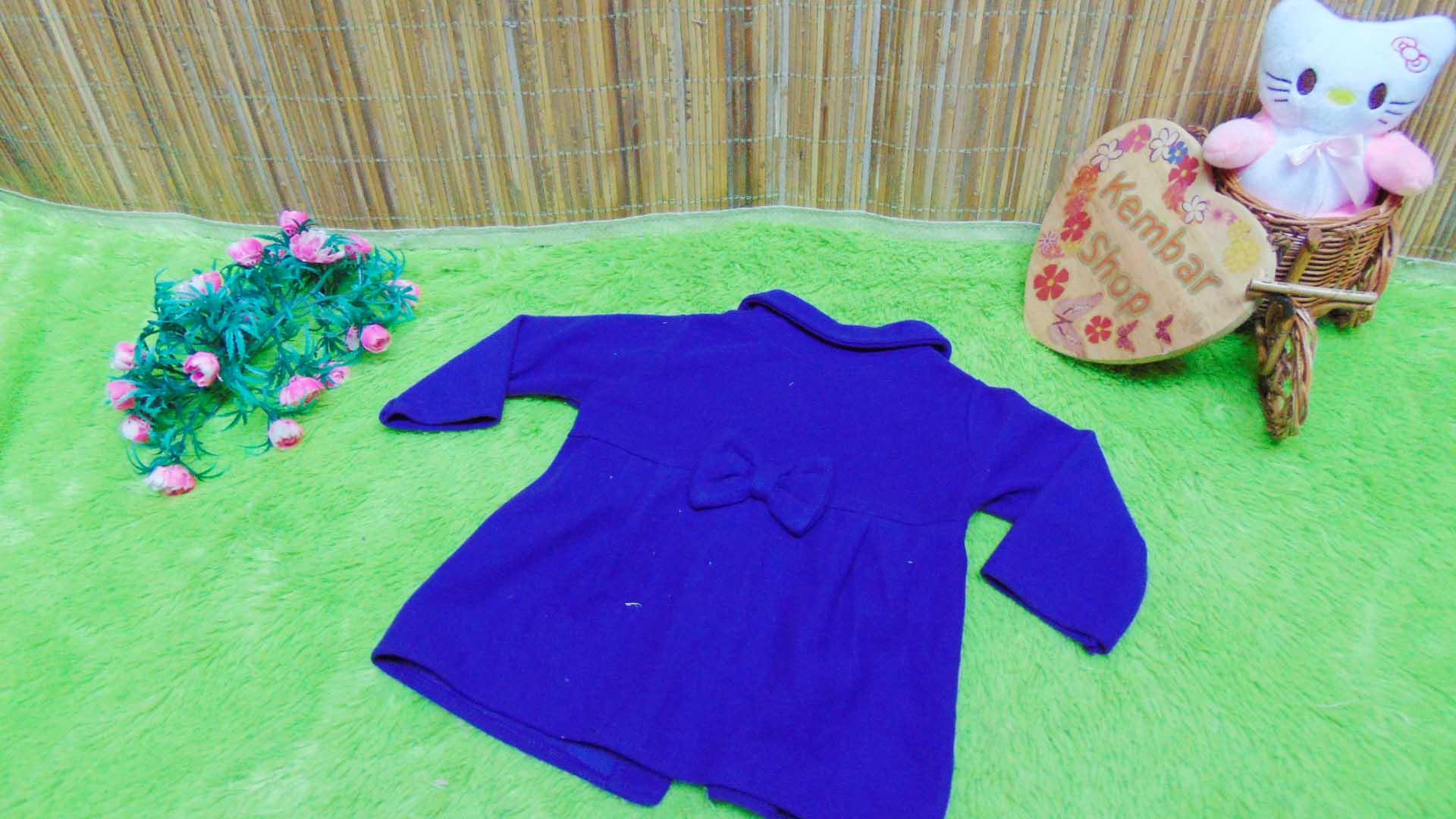 jaket bayi blazer baby mantel bayi hangat lembut 0-18bulan polos ungu (1)