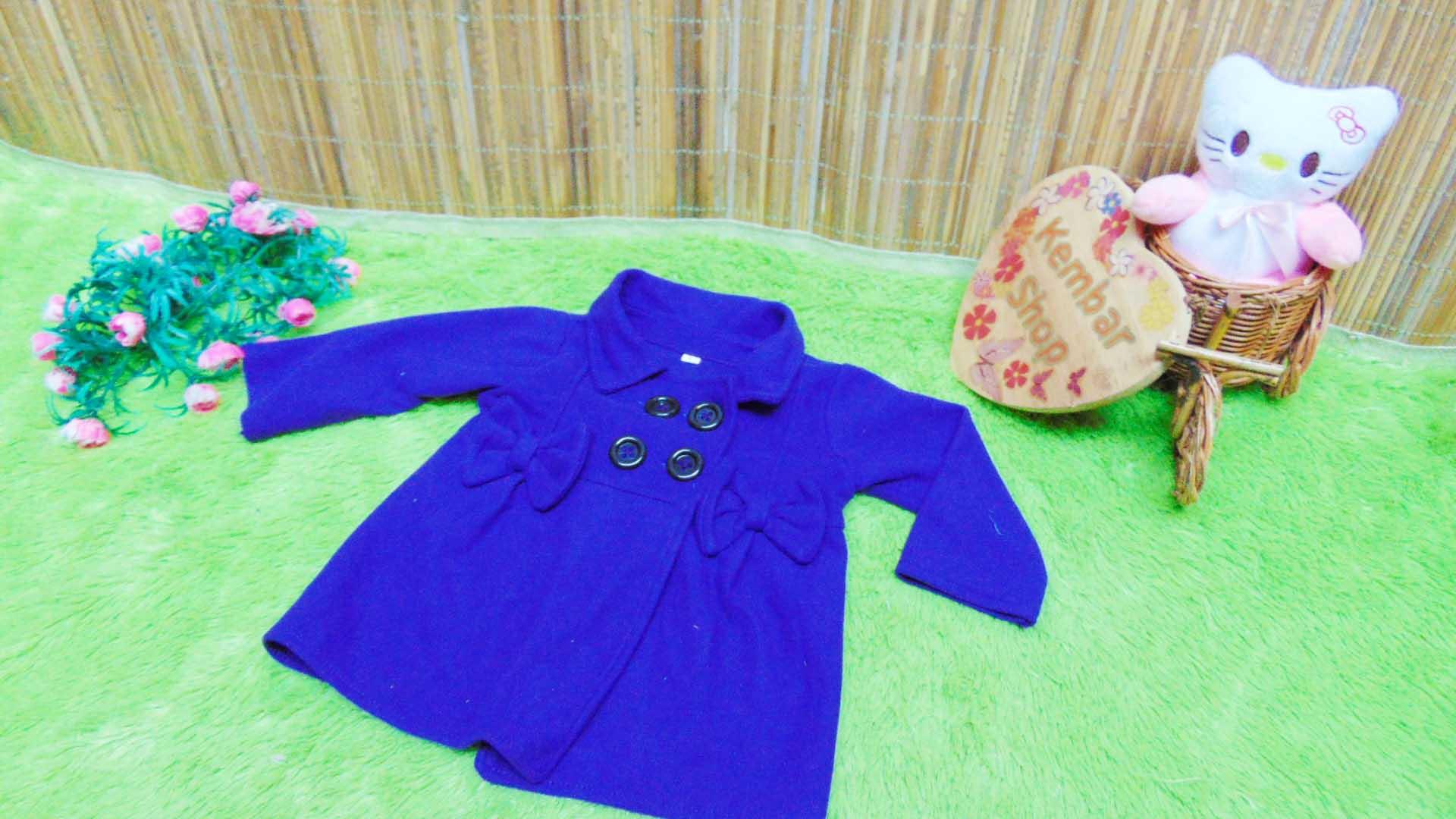 jaket bayi blazer baby mantel bayi hangat lembut 0-18bulan polos ungu (2)