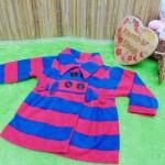 jaket bayi blazer baby mantel bayi hangat lembut 0-18bulan salur merah biru (1)