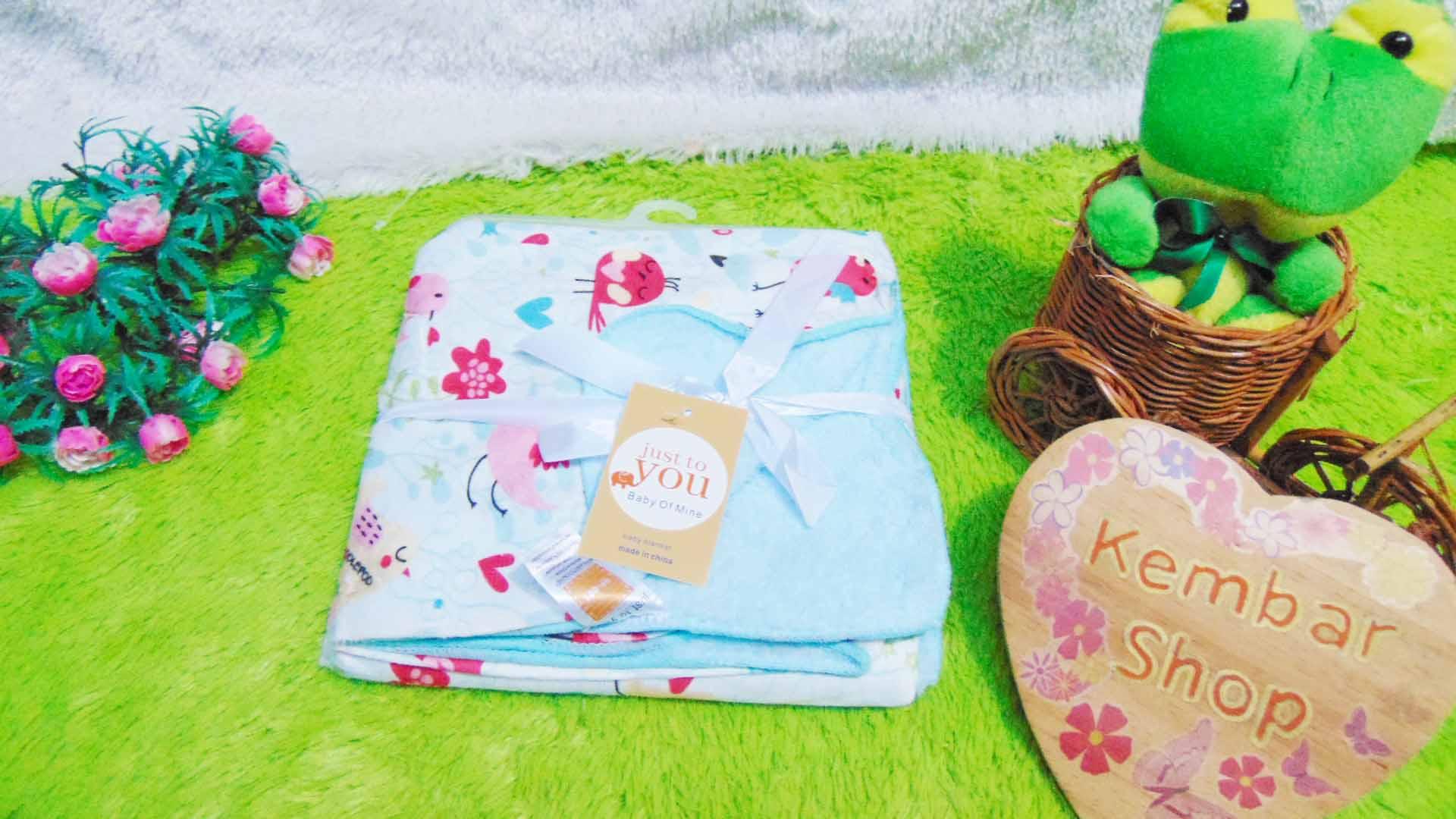 kado bayi baby gift selimut carter double fleece bayi aneka motif perempuan girl (1)