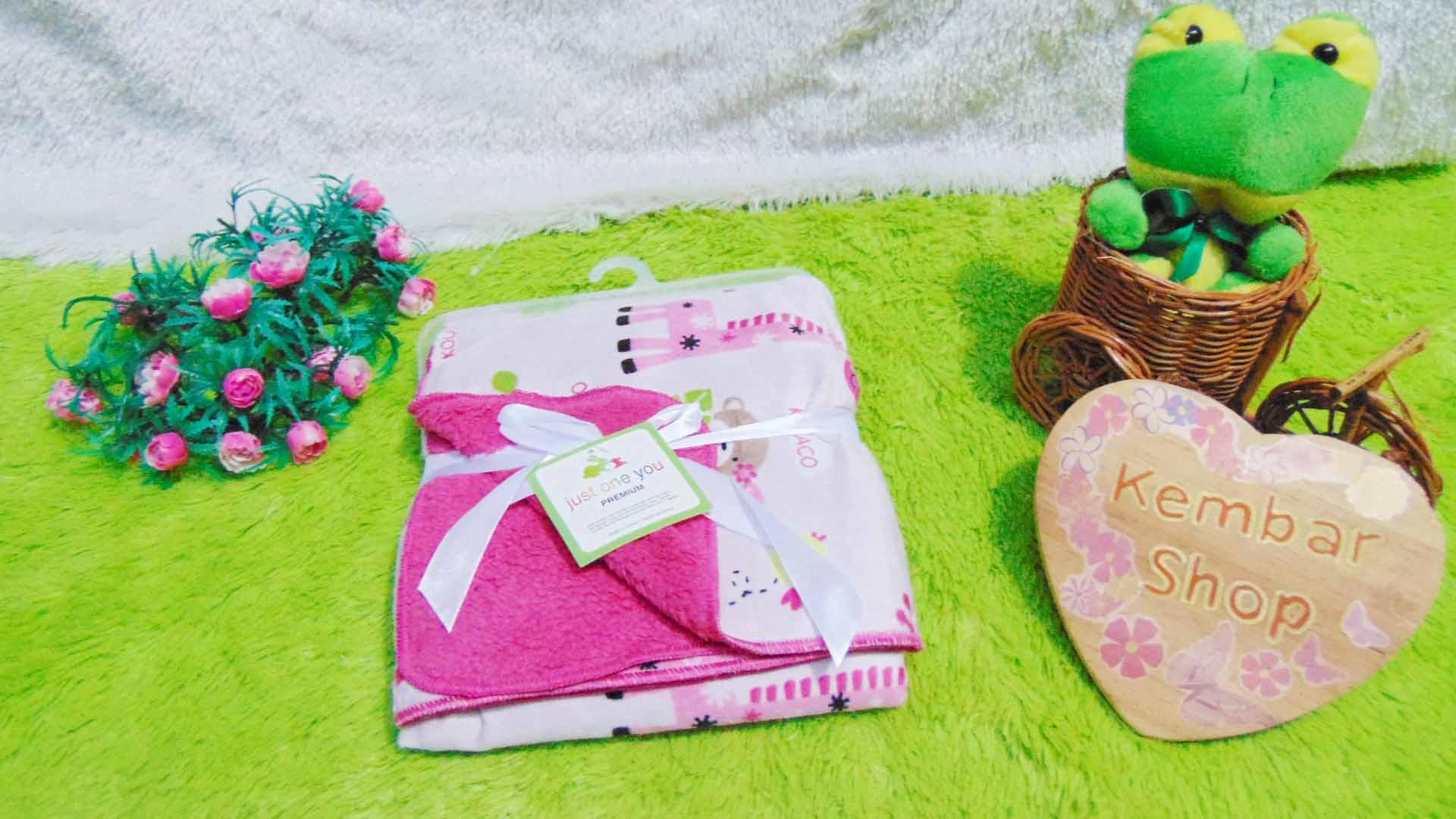 kado bayi baby gift selimut carter double fleece bayi aneka motif perempuan girl (5)