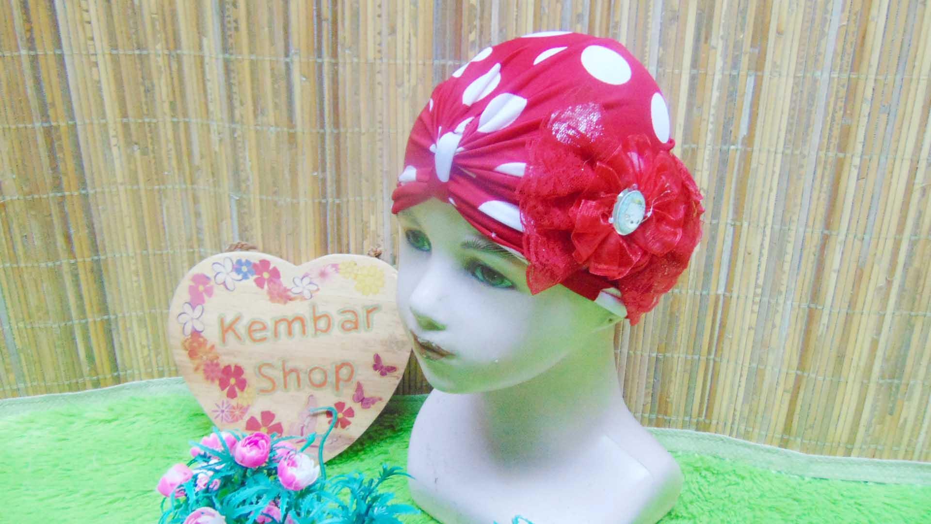topi ciput turban anak bayi perempuan 0-3th polka cantik aneka warna (3)