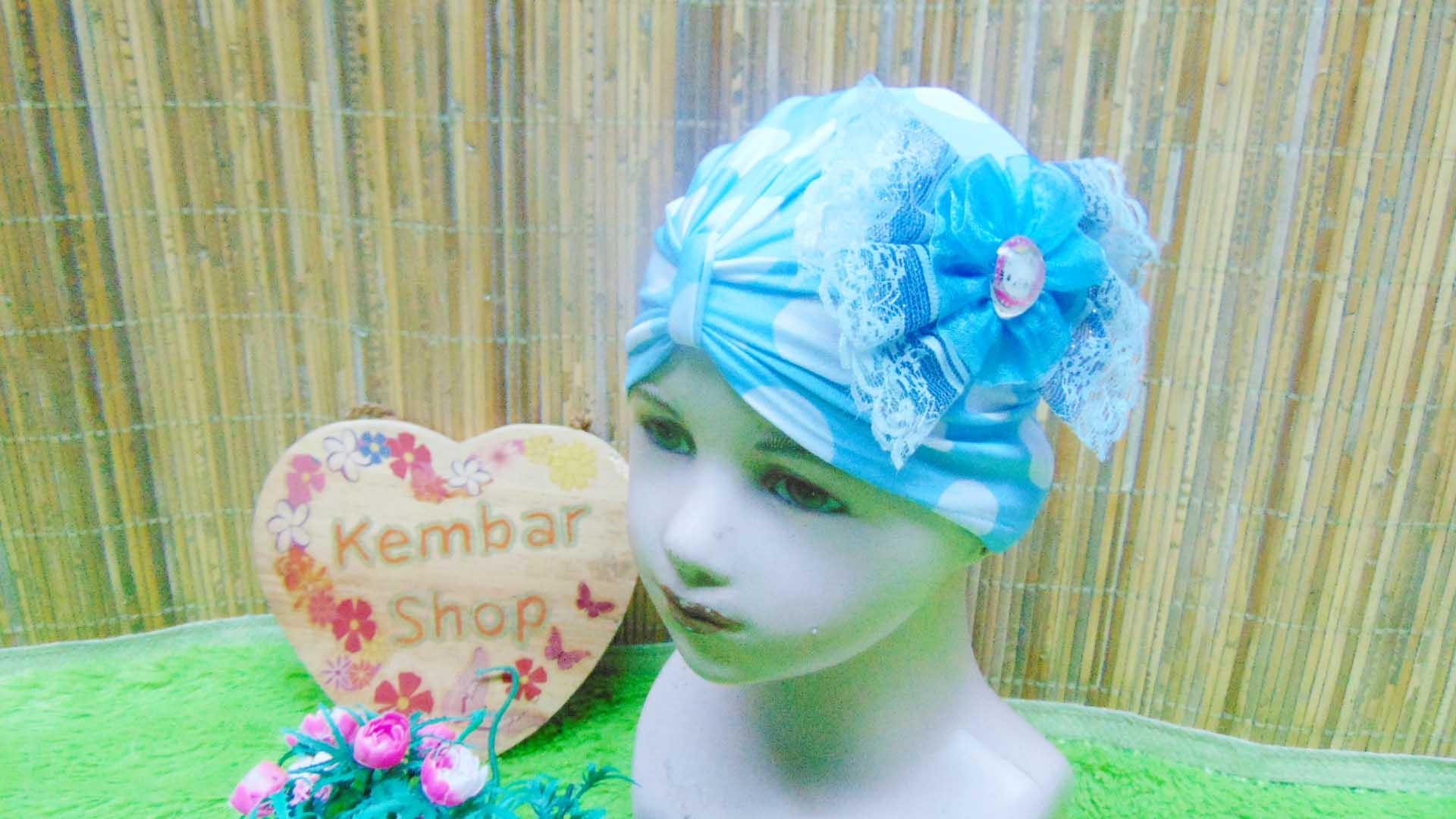 topi ciput turban anak bayi perempuan 0-3th polka cantik aneka warna (4)