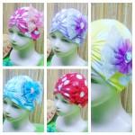 utama - topi ciput turban anak bayi perempuan 0-3th polka cantik aneka warna