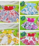 TERLENGKAP dress baju pesta bayi anak perempuan BELLA flowery baby 9-24bulan (4)