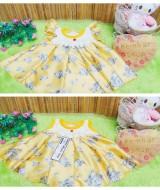 UTAMA dress baju pesta bayi anak perempuan BELLA kuning silk newborn baby 0-9bulan (3)