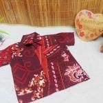 baju pesta kemeja batik bayi laki-laki cowok hem atasan anak baby 0-2th titik api