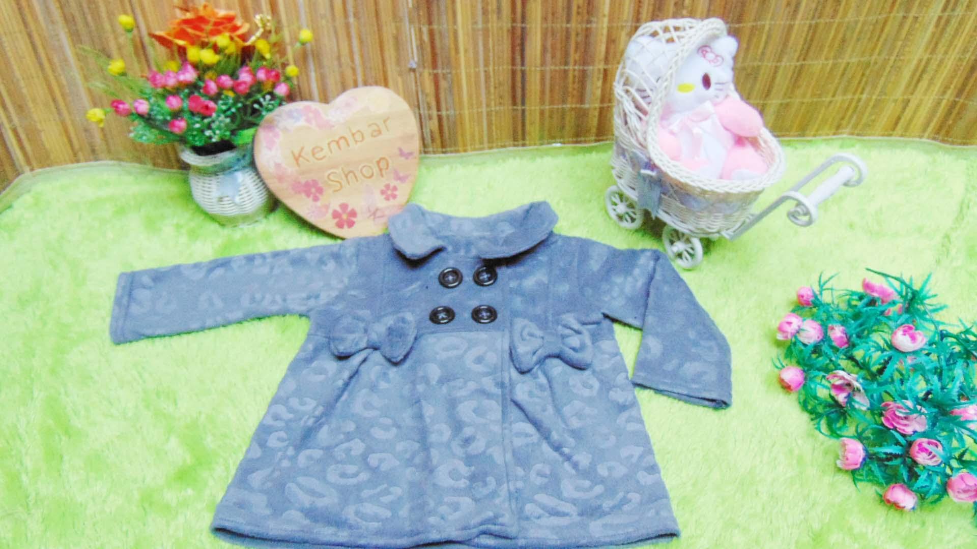 jaket bayi blazer baby mantel bayi hangat lembut 0-18bulan motif abu emboss (2)