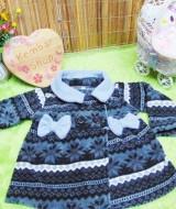 jaket bayi blazer baby mantel bayi hangat lembut 0-18bulan motif aztec abu hitam (2)