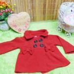 jaket bayi blazer baby mantel bayi hangat lembut 0-9bulan polos merah