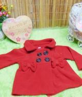 jaket bayi blazer baby mantel bayi hangat lembut 0-9bulan polos merah (2)
