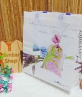 tas kado hadiah serbaguna besar muat banyak motif lavender (2)