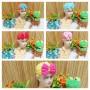 utama aksesoris topi ciput turban anak bayi perempuan baby girl 0-2th little polka cantik aneka warna (1)