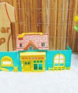 utama mainan anak rumah-rumahan tiga dimensi plus perabotan mini warna random (2)