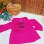 Jaket bayi mantel bayi fleece 0-12bulan hangat lembut polos pink fanta