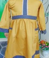 UTAMA baju muslim gamis anak batita 2-3th polos dottie dengan ritsleting di belakang (2)
