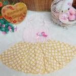 dress hawai tali pundak bayi newborn perempuan 0-6bulan motif gold