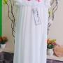 gaun baju pesta anak dress batita perempuan cewek putih 2-3th (1)