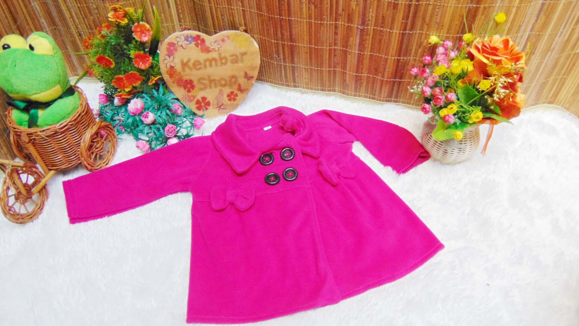 jaket bayi blazer baby mantel bayi hangat lembut 0-18 bulan polos pink fanta