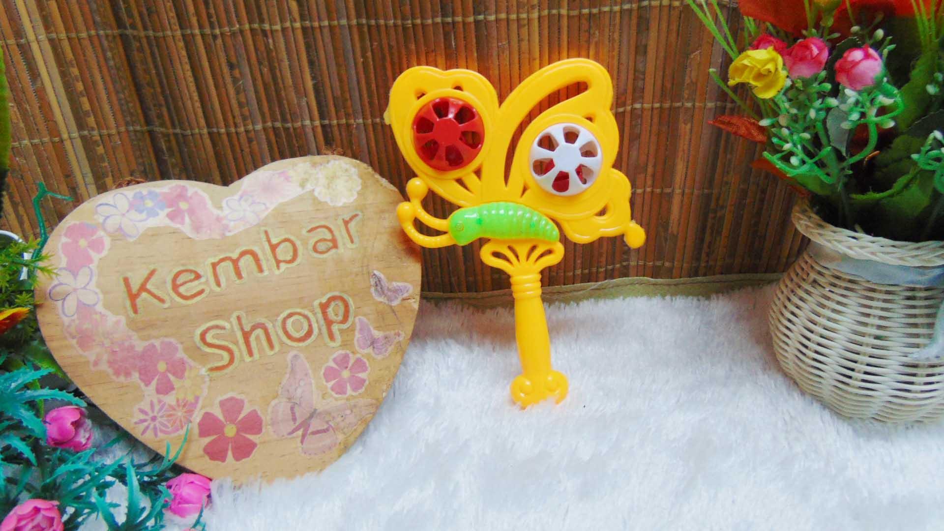 kado icik-icik rattle krincingan kupu mainan bayi baby toys warna random (3)