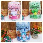 FREE KARTU UCAPAN paket kado lahiran bayi baby gift set box jaket plus boneka motif Bubble Aneka warna