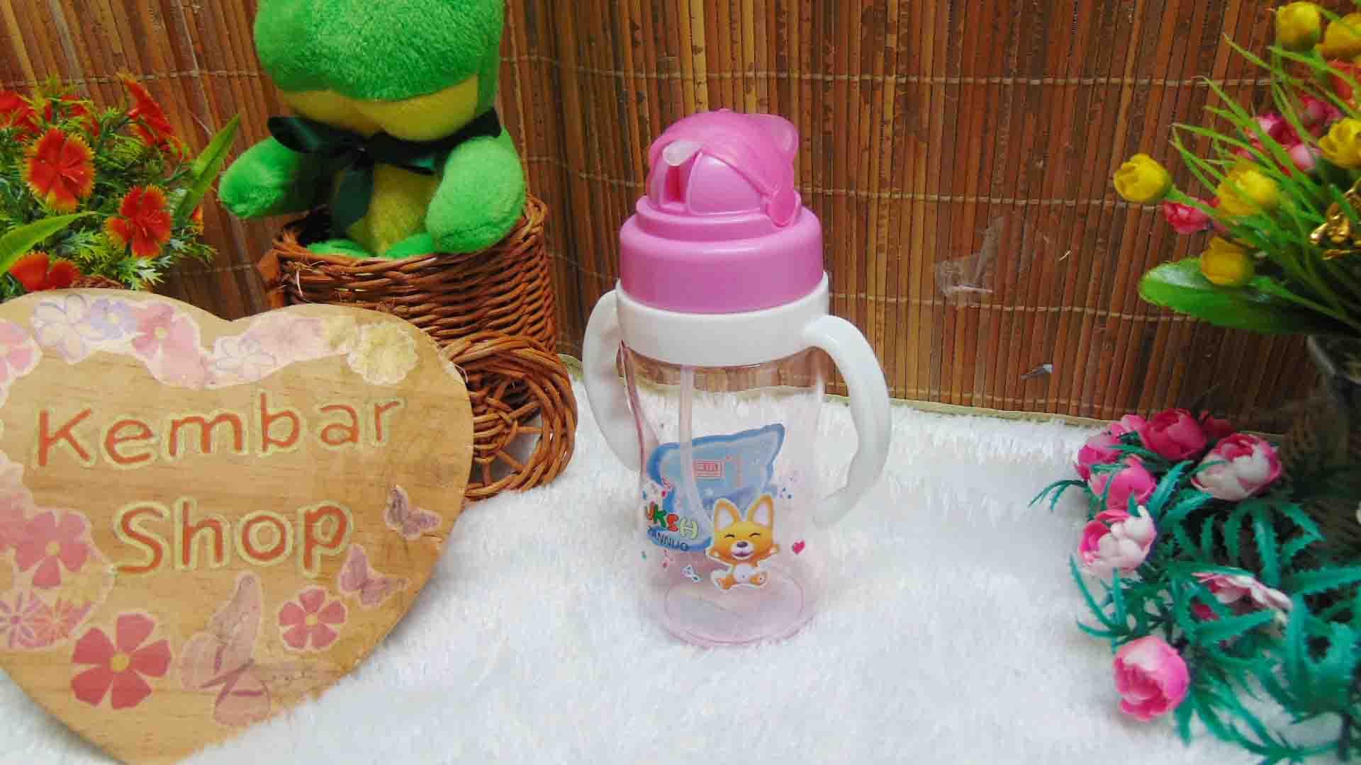 FREE BUBBLE WRAP tenpat botol minum anak bayi batita balita PAUD dengan pegangan dan sedotan (1)