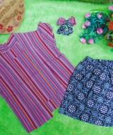 Setelan Baju Batik Kebaya Kutu Baru Bayi 0-12bulan Plus