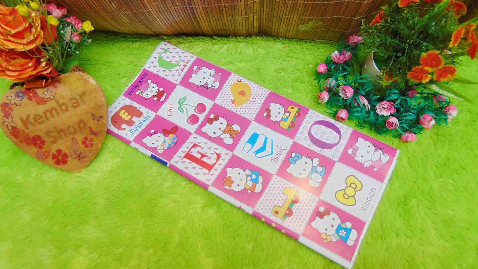 sampul kado bayi kertas kado lahiran baby gift motif Hello Kitty Kotak Pink