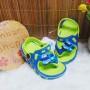 sepatu sandal anak bayi batita karet karakter bus kecil tayo (1)