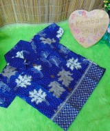 baju pesta kemeja batik bayi laki-laki cowok hem atasan anak baby 0-2th daun winter