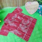 baju pesta kemeja batik bayi laki-laki cowok hem atasan anak baby 0-2th pesona merah