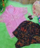 Setelan Baju Pesta Batik Kebaya Kutu Baru Brokat