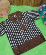 baju pesta kemeja batik bayi laki-laki cowok hem atasan anak baby 0-2th motif bambu vertikal