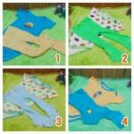 Paket Hemat Setelan jumper carter bayi plus legging cotton rich 0-12bulan