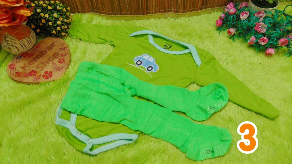 Paket Hemat Setelan jumper panjang carter bayi plus legging cotton rich 0-12bulan (3)