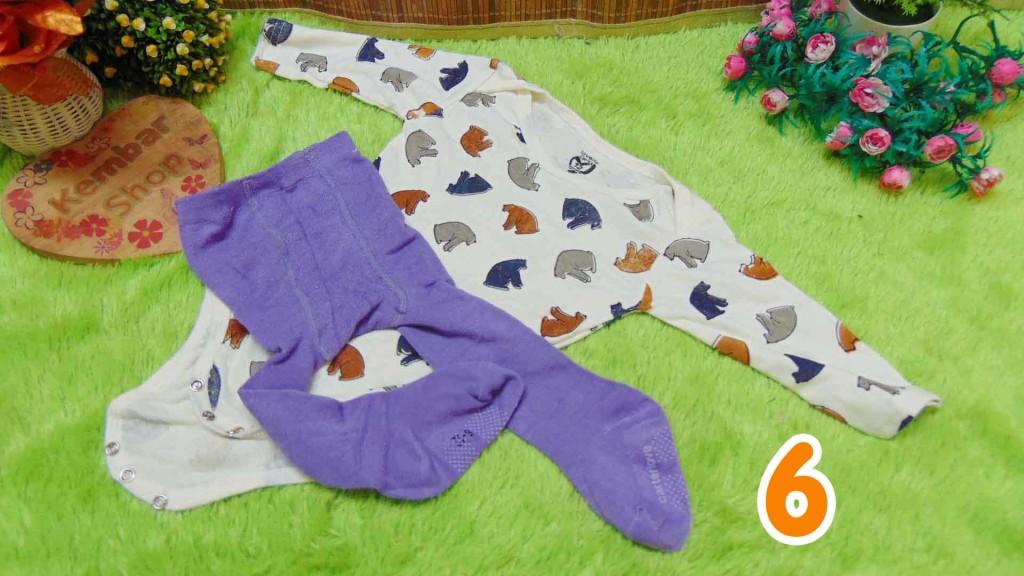 Paket Hemat Setelan jumper panjang carter bayi plus legging cotton rich 0-12bulan (6)