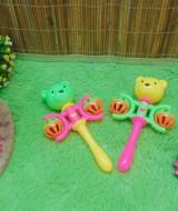 FREE BUBBLE WRAP kado icik-icik rattle krincingan beruang mainan bayi baby toys warna random