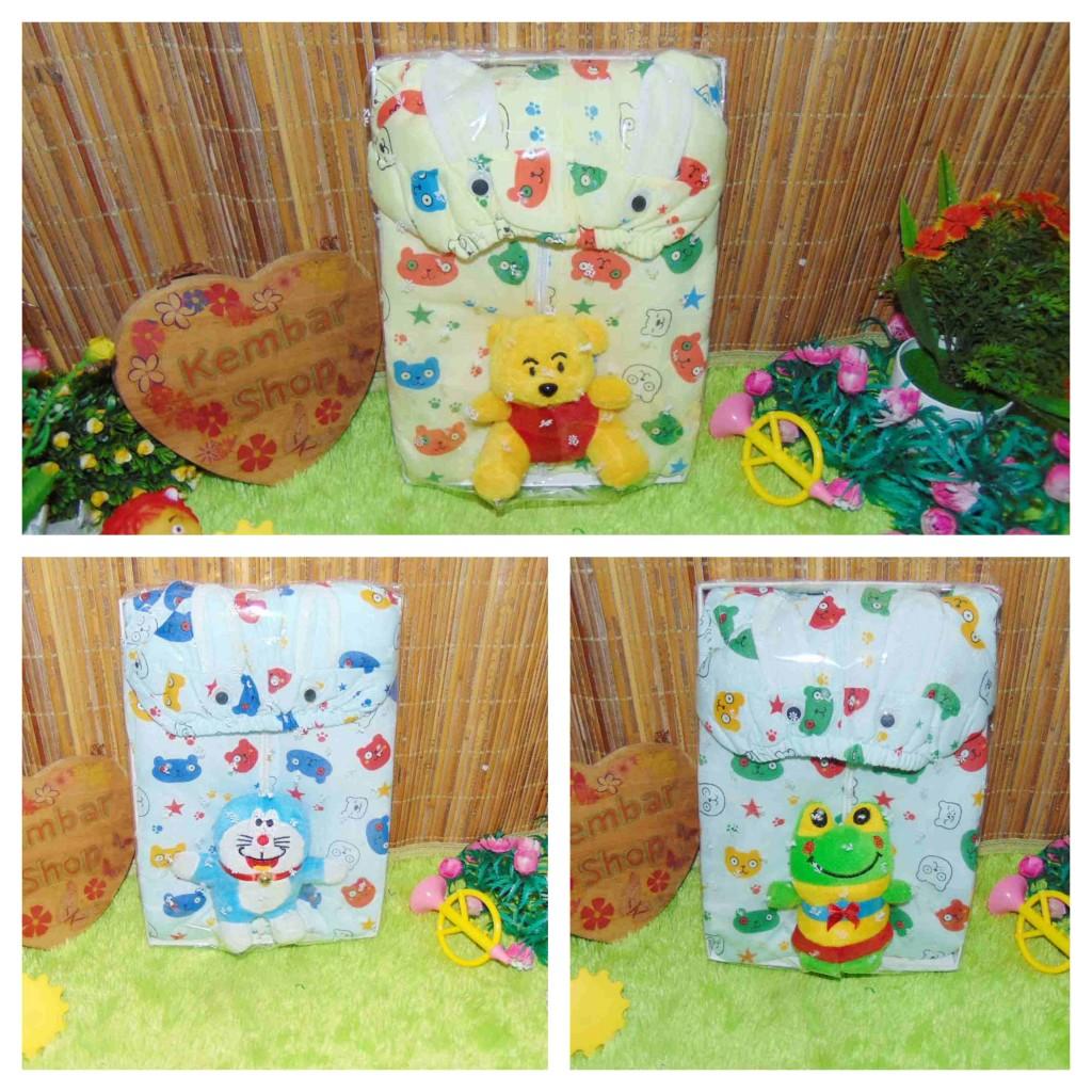 FREE KARTU UCAPAN paket kado lahiran bayi baby gift set box jaket plus boneka motif Baby Bear Beruang Aneka warna (3)
