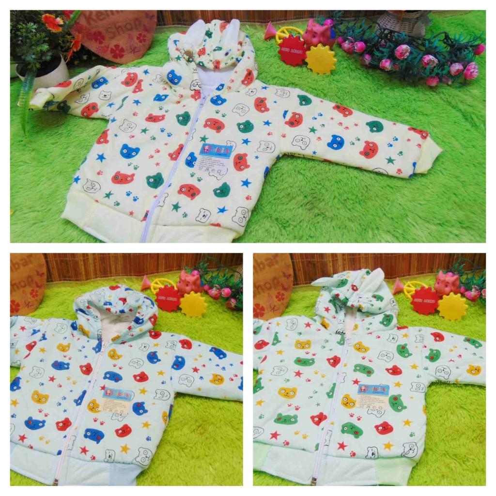 FREE KARTU UCAPAN paket kado lahiran bayi baby gift set box jaket plus boneka motif Baby Bear Beruang Aneka warna (4)